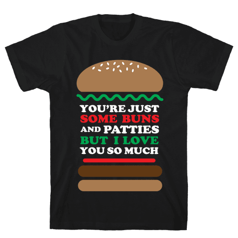 Burger Love Mens T-Shirt
