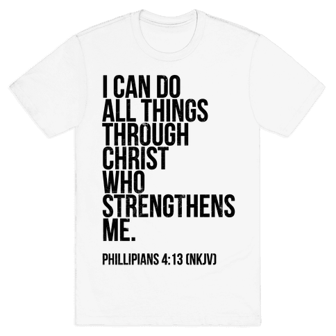 I Can Do All Things Through Christ (vintage) Mens T-Shirt