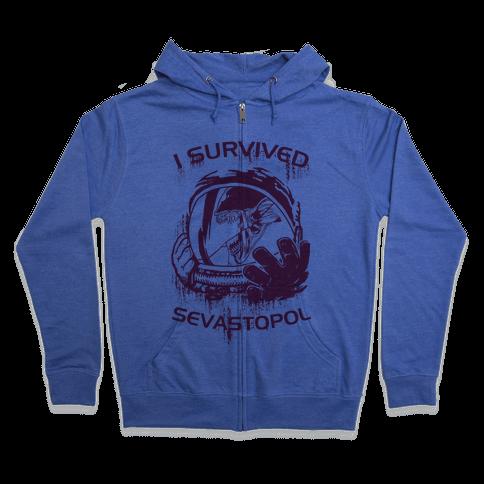 I Survived Sevastopol Zip Hoodie