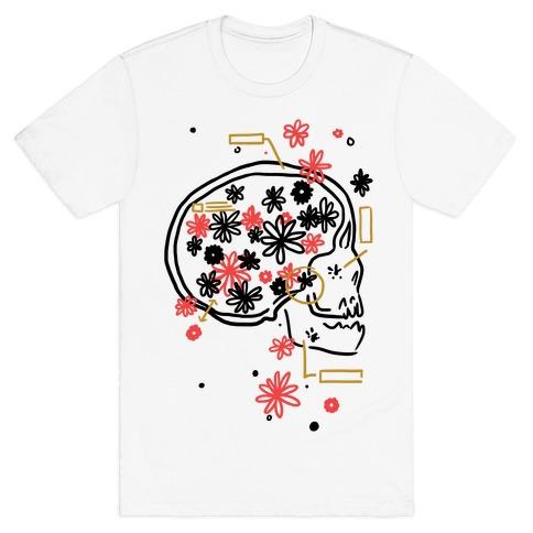 Terminal Daydream Flower Skull T-Shirt