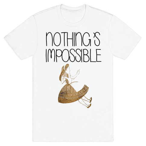Wonderland: Nothing's Impossible Mens T-Shirt
