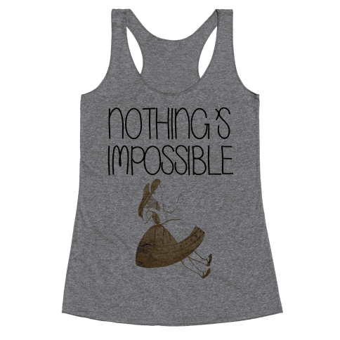 Wonderland: Nothing's Impossible Racerback Tank Top