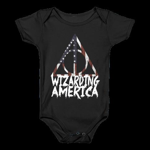 Wizarding America Baby Onesy
