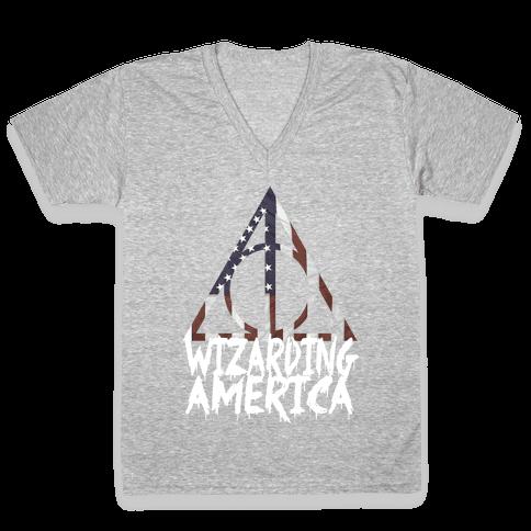 Wizarding America V-Neck Tee Shirt