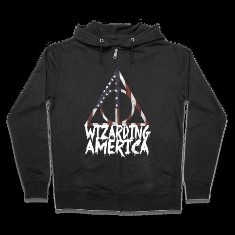 Wizarding America Zip Hoodie
