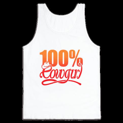 100% Cowgirl Tank Top