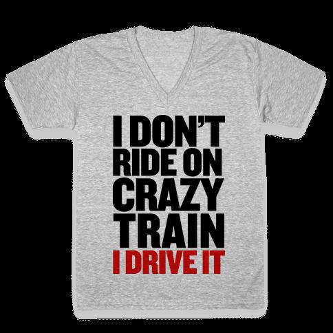 The Crazy Train V-Neck Tee Shirt