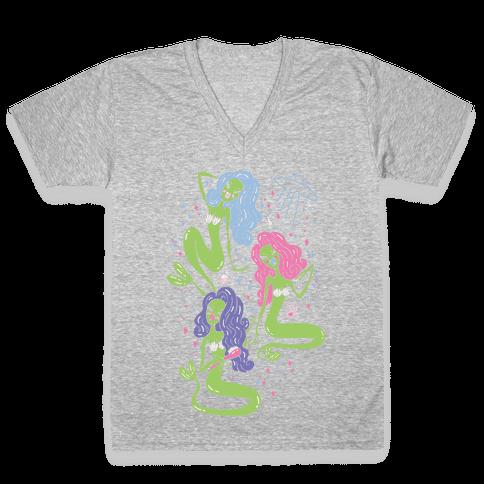 Mermaid Martians V-Neck Tee Shirt