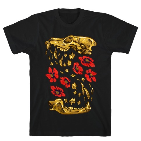 Coyote's Golden Skull Mens T-Shirt