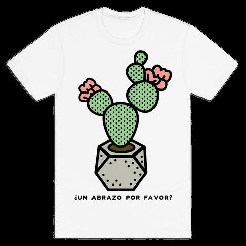 Cactus Hugs Mens T-Shirt