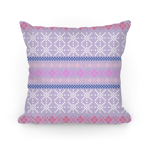 Sweater Pattern Print Purple Pillow
