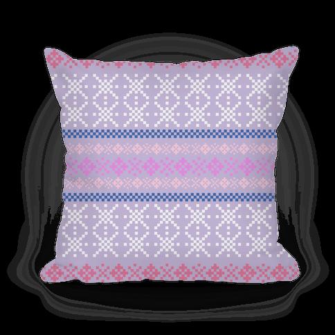 Sweater Pattern Print Purple