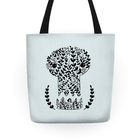Decorative Skull Tote Bag