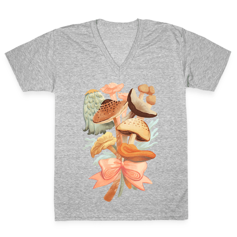 Bouquet Of Mushrooms V-Neck Tee Shirt