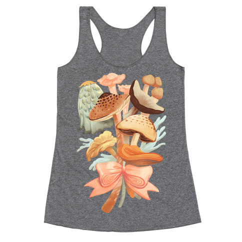 Bouquet Of Mushrooms Racerback Tank Top