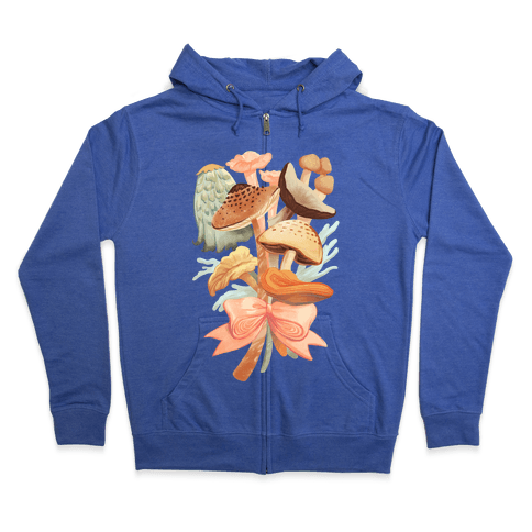 Bouquet Of Mushrooms Zip Hoodie
