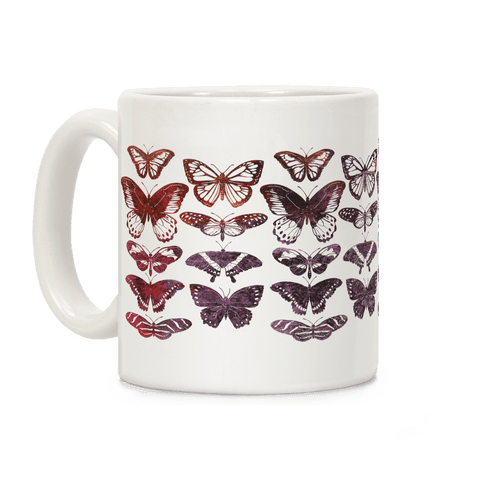 Butterfly Species Pattern Coffee Mug
