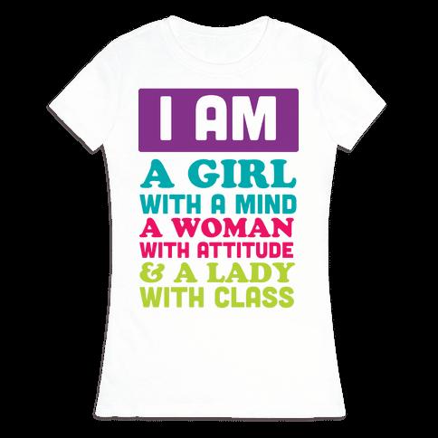 I Am a GIRL Womens T-Shirt