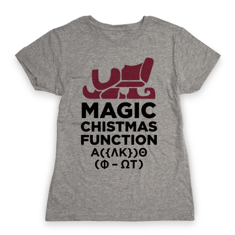 Magic Christmas Function Womens T-Shirt