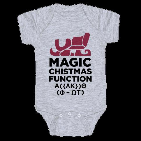 Magic Christmas Function Baby Onesy