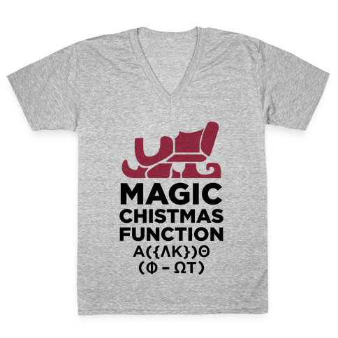 Magic Christmas Function V-Neck Tee Shirt