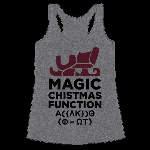 Magic Christmas Function Racerback Tank Top
