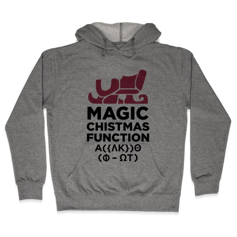 Magic Christmas Function Hooded Sweatshirt