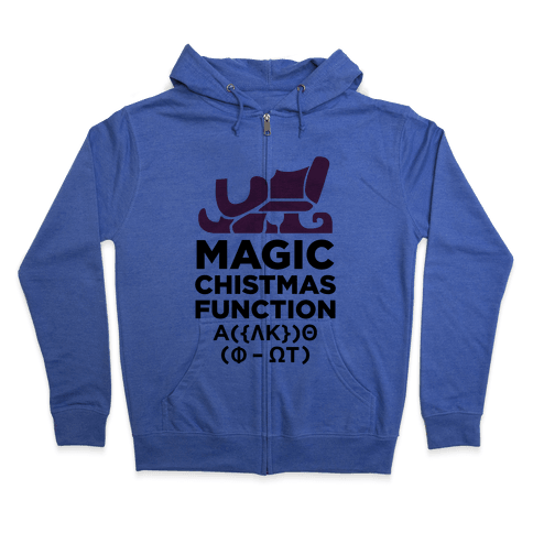 Magic Christmas Function Zip Hoodie
