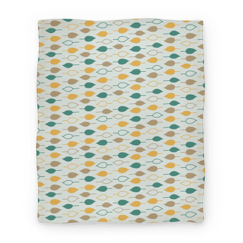 Leaf Pattern Blanket (Blue) Blanket