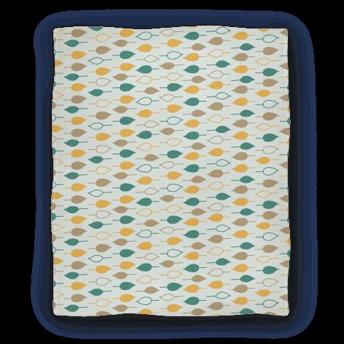 Leaf Pattern Blanket (Blue) Blanket