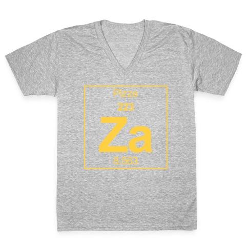 Pizza V-Neck Tee Shirt