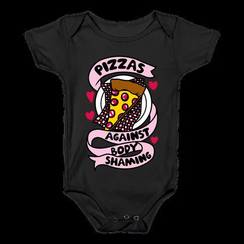 Pizzas Against Body Shaming Baby Onesy