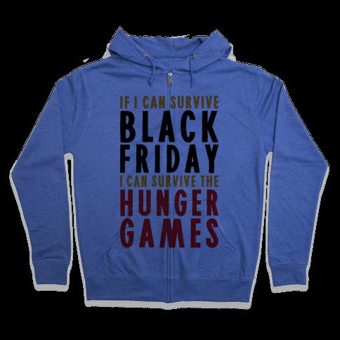 Black Friday Hunger Games Zip Hoodie