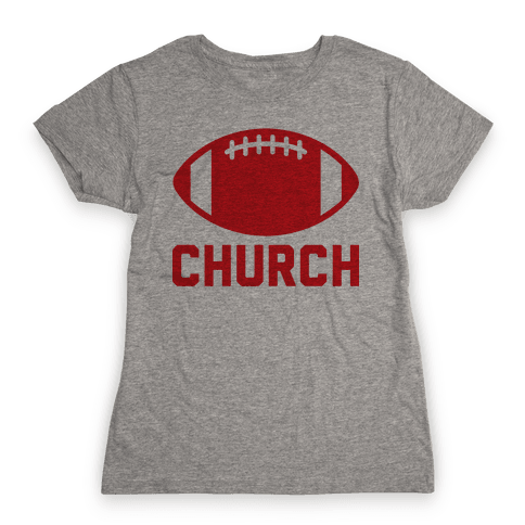 Football Church Womens T-Shirt