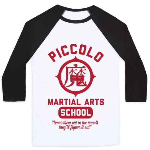 Piccolo Martial Arts School Baseball Tee
