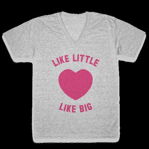 Like Little Like Big (Heart) V-Neck Tee Shirt
