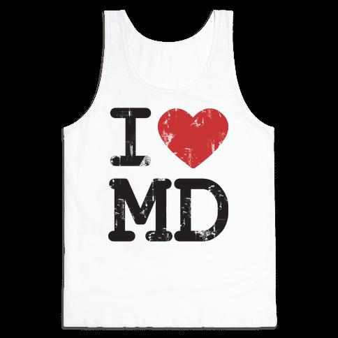 I Love Maryland Tank Top