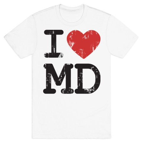 I Love Maryland Mens T-Shirt