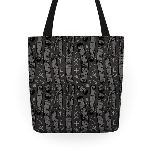 Birch Trees and Runes Tote