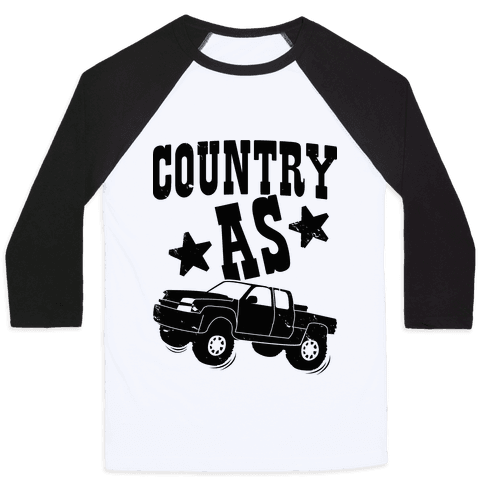 Country as Truck Baseball Tee