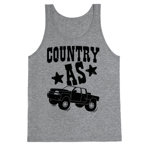 Country as Truck Tank Top