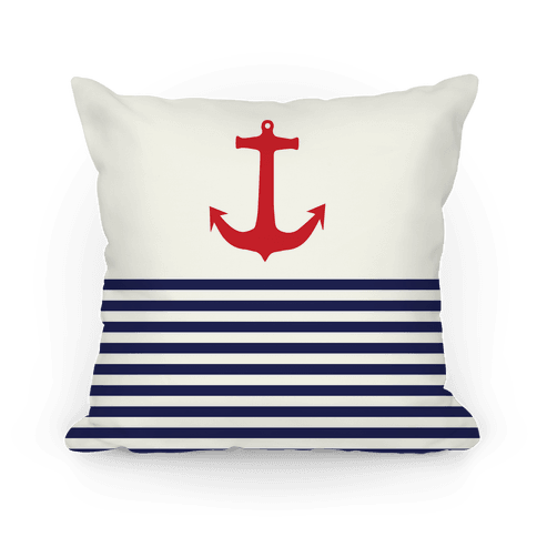 Anchor and Stripes Pillow
