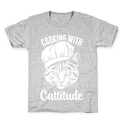 Cooking With Cattitude Kids T-Shirt