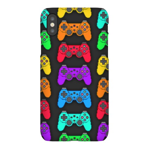 Rainbow Pixel Game Controller Phone Case