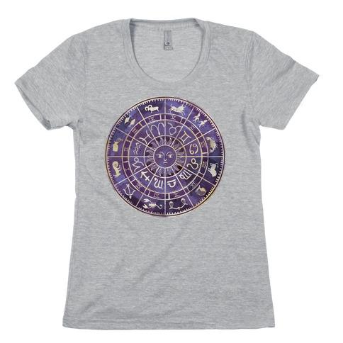 Zodiac Calendar Womens T-Shirt