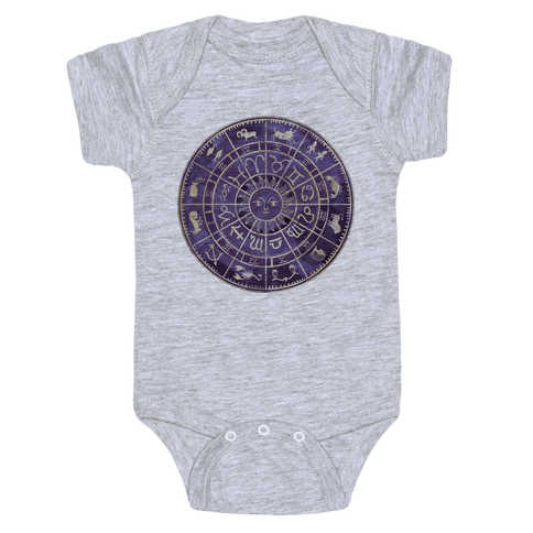 Zodiac Calendar Baby Onesy