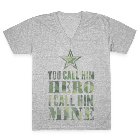 You Call Him Hero V-Neck Tee Shirt