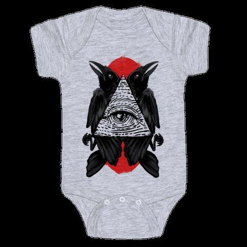Crow's Illuminati Baby Onesy