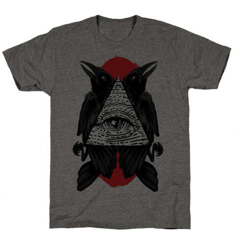 Crow's Illuminati Mens T-Shirt