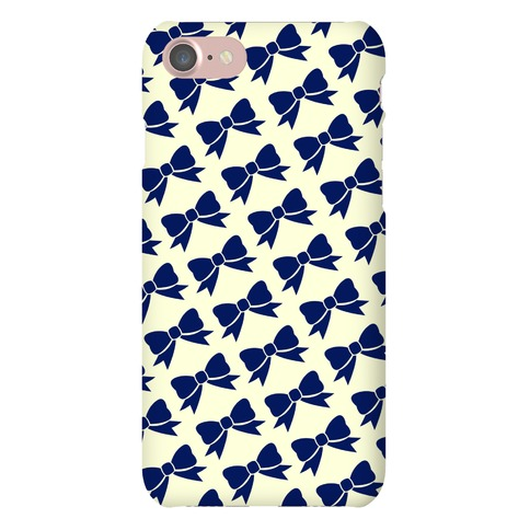 Blue Bow Pattern Phone Case